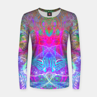 Thumbnail image of The Ice Queen's Thawing (Spring Visionary Fantasy Art) Women sweater, Live Heroes