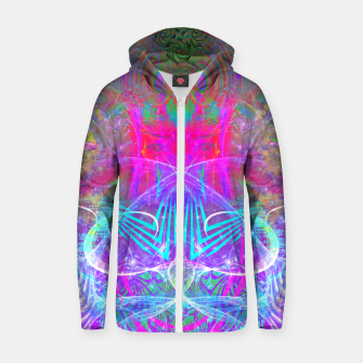 Thumbnail image of The Ice Queen's Thawing (Spring Visionary Fantasy Art) Zip up hoodie, Live Heroes