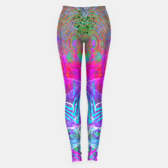 Thumbnail image of The Ice Queen's Thawing (Spring Visionary Fantasy Art) Leggings, Live Heroes