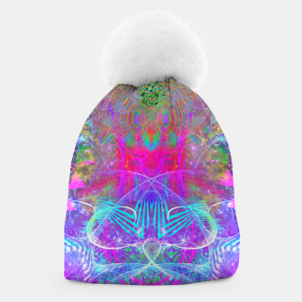 Thumbnail image of The Ice Queen's Thawing (Spring Visionary Fantasy Art) Beanie, Live Heroes