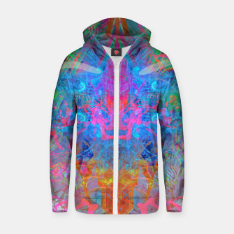 Miniaturka Ether Soul (Abstract, Psychedelic, Visionary, Fantasy Art) Zip up hoodie, Live Heroes