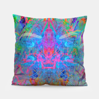 Ether Soul (Abstract, Psychedelic, Visionary, Fantasy Art) Pillow thumbnail image