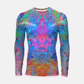 Ether Soul (Abstract, Psychedelic, Visionary, Fantasy Art) Longsleeve rashguard  thumbnail image