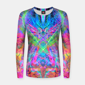 Miniatur Mind Streak (Visionary, Psychedelic, Trippy, Colorful, Symmetrical Women sweater, Live Heroes
