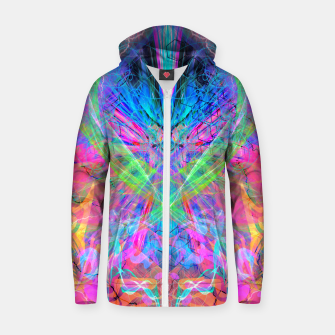 Miniatur Mind Streak (Visionary, Psychedelic, Trippy, Colorful, Symmetrical Zip up hoodie, Live Heroes