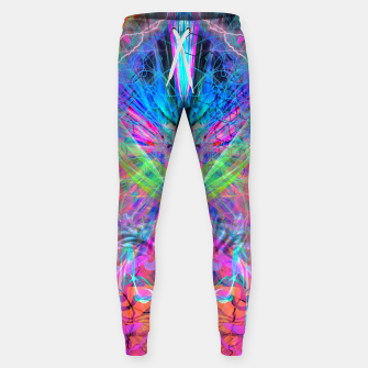 Miniatur Mind Streak (Visionary, Psychedelic, Trippy, Colorful, Symmetrical Sweatpants, Live Heroes