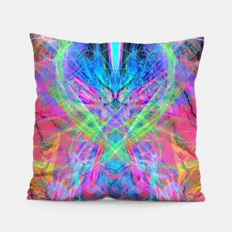 Miniatur Mind Streak (Visionary, Psychedelic, Trippy, Colorful, Symmetrical Pillow, Live Heroes