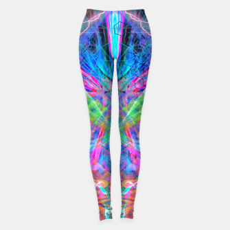 Miniatur Mind Streak (Visionary, Psychedelic, Trippy, Colorful, Symmetrical Leggings, Live Heroes