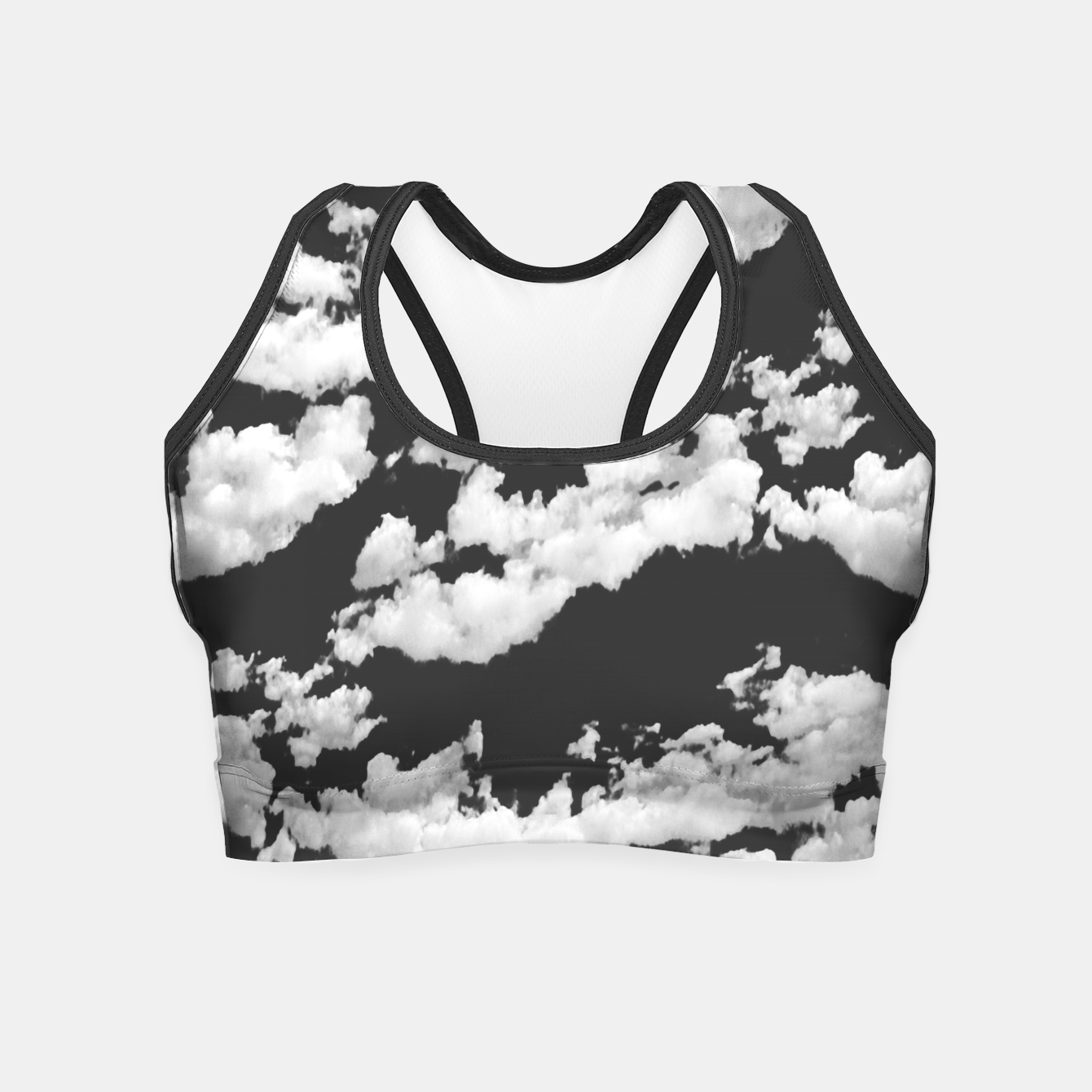 Image of Cumulus Abstract Design Crop Top - Live Heroes