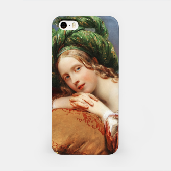 Thumbnail image of Dame Mit Grünem Turban by Aimée Pagès-Brune iPhone Case, Live Heroes