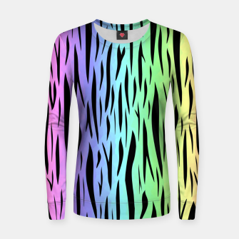 Thumbnail image of Rainbow Tiger Stripes Women sweater, Live Heroes