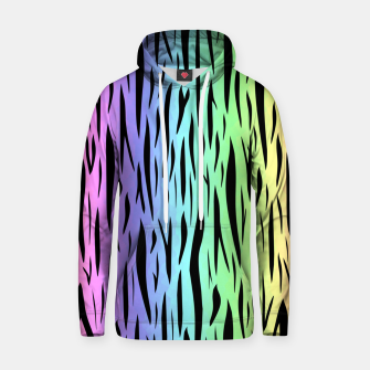 Thumbnail image of Rainbow Tiger Stripes Hoodie, Live Heroes