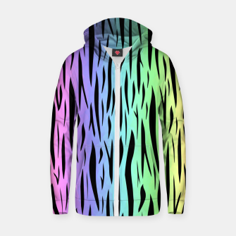 Thumbnail image of Rainbow Tiger Stripes Zip up hoodie, Live Heroes