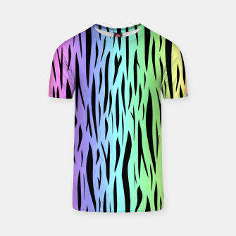 Thumbnail image of Rainbow Tiger Stripes T-shirt, Live Heroes