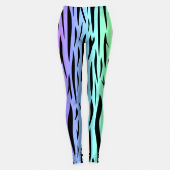Thumbnail image of Rainbow Tiger Stripes Leggings, Live Heroes