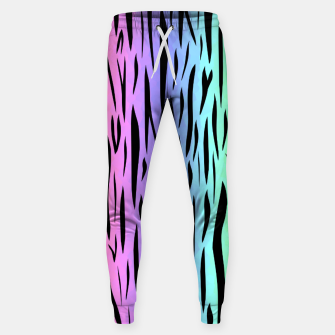 Thumbnail image of Rainbow Tiger Stripes Sweatpants, Live Heroes