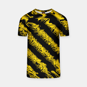 Thumbnail image of Black and Yellow Tribal Stripe Unisex T-Shirt, Live Heroes