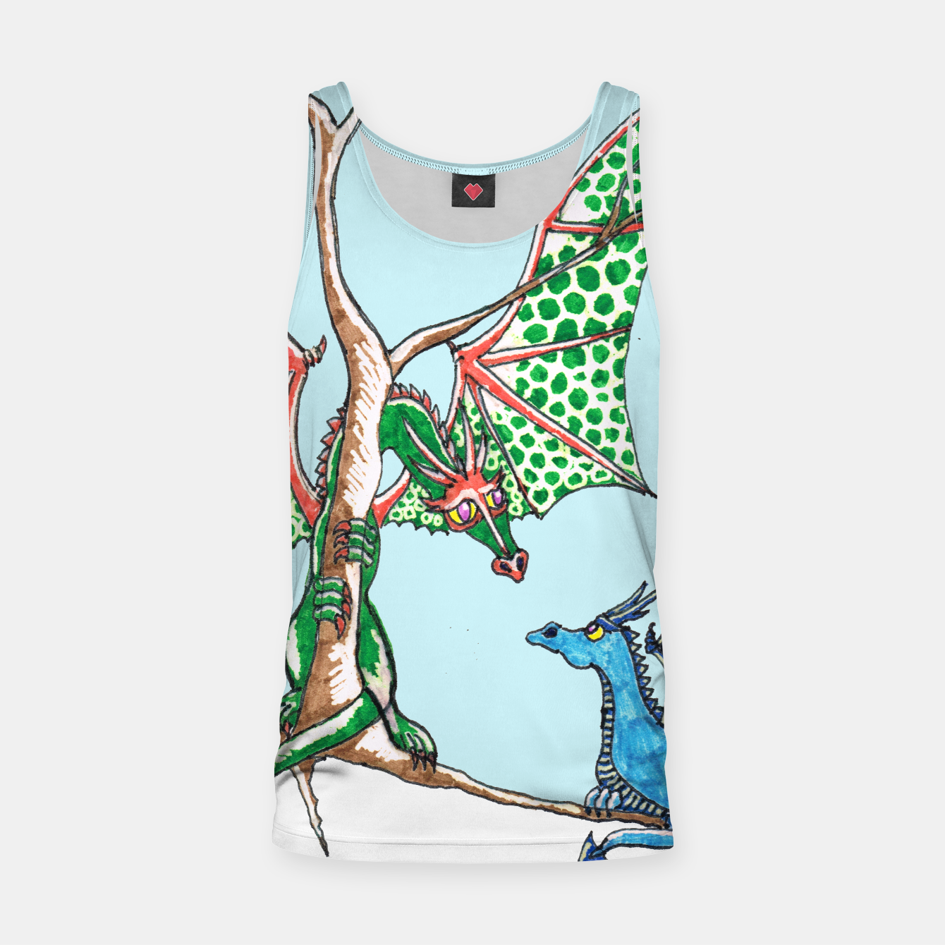 Image of Winter dragons tank top - Live Heroes