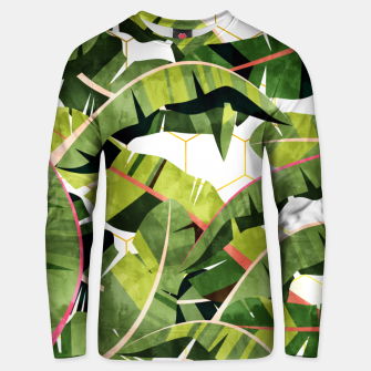 Banana Leaf Salad With Garlic Butter Dressing Unisex sweater thumbnail image