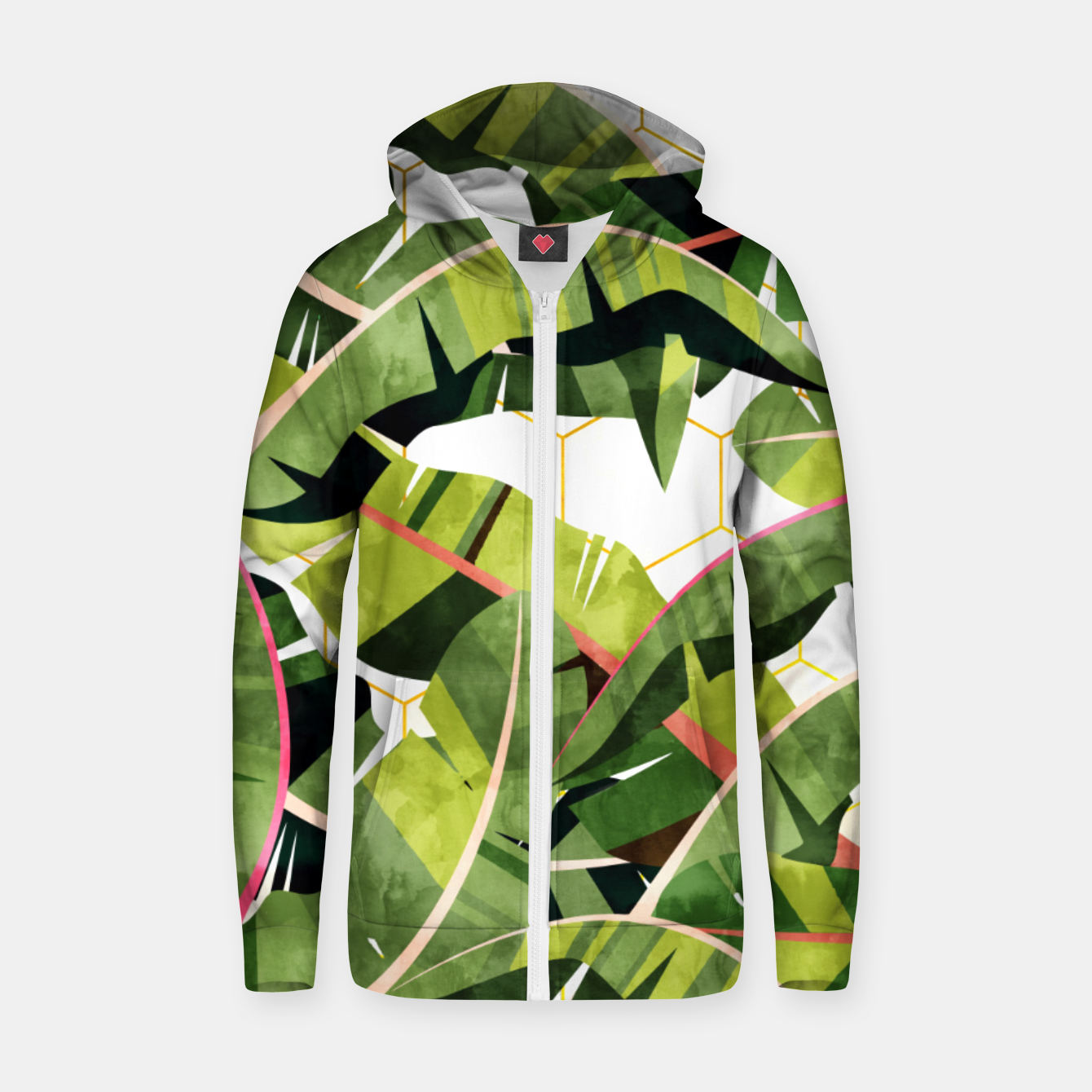 Image of Banana Leaf Salad With Garlic Butter Dressing Zip up hoodie - Live Heroes