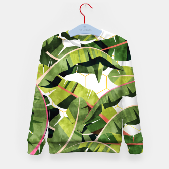 Banana Leaf Salad With Garlic Butter Dressing Kid's sweater thumbnail image