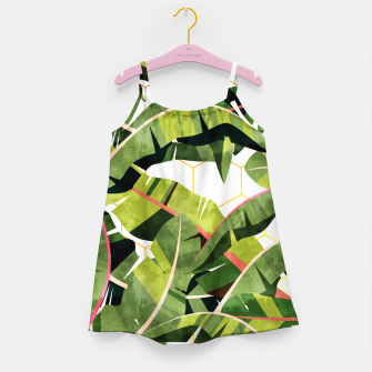 Banana Leaf Salad With Garlic Butter Dressing Girl's dress thumbnail image