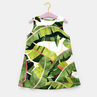 Banana Leaf Salad With Garlic Butter Dressing Girl's summer dress thumbnail image