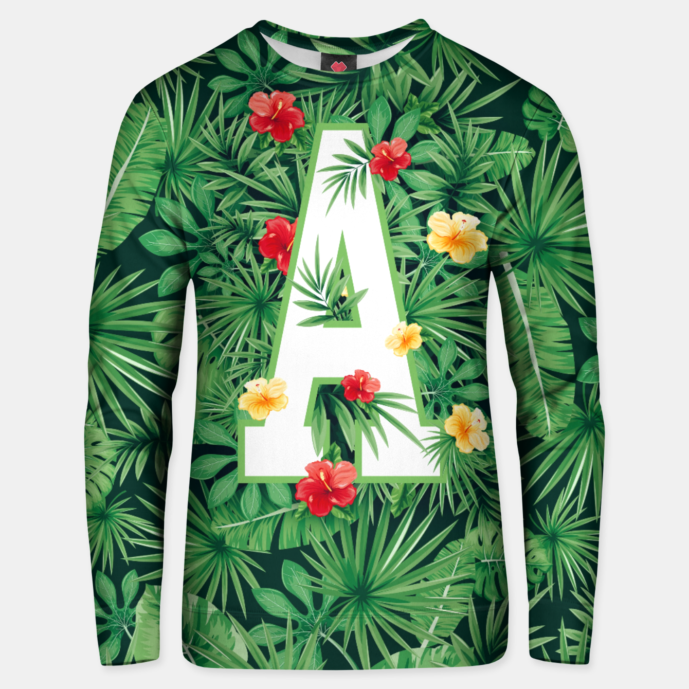 Image of Capital Letter A Alphabet Monogram Initial Flower Gardener Unisex sweater - Live Heroes