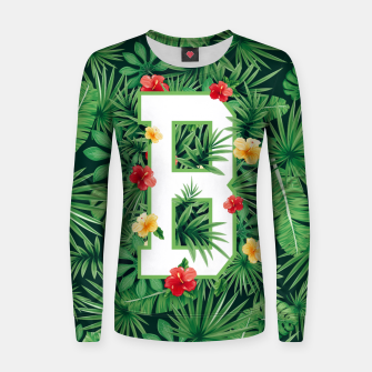 Capital Letter B Alphabet Monogram Initial Flower Gardener Women sweater thumbnail image