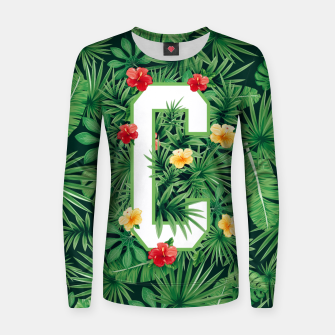Capital Letter C Alphabet Monogram Initial Flower Gardener Women sweater thumbnail image