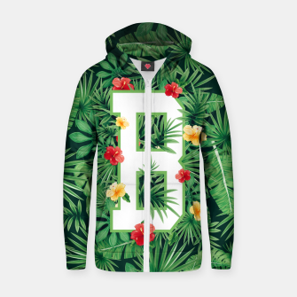 Capital Letter B Alphabet Monogram Initial Flower Gardener Zip up hoodie thumbnail image