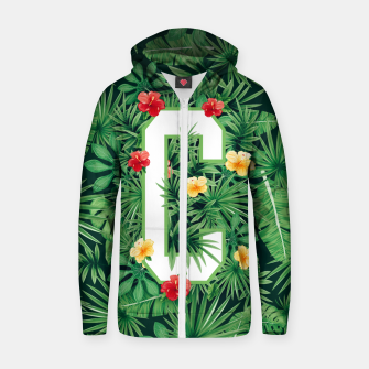 Capital Letter C Alphabet Monogram Initial Flower Gardener Zip up hoodie thumbnail image