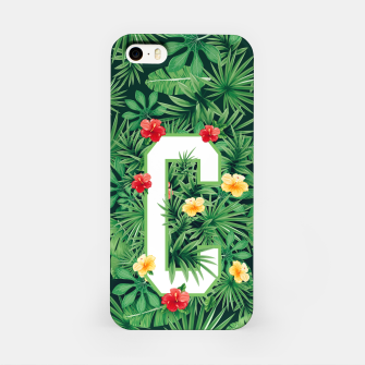 Capital Letter C Alphabet Monogram Initial Flower Gardener iPhone Case thumbnail image