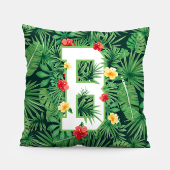 Capital Letter B Alphabet Monogram Initial Flower Gardener Pillow thumbnail image