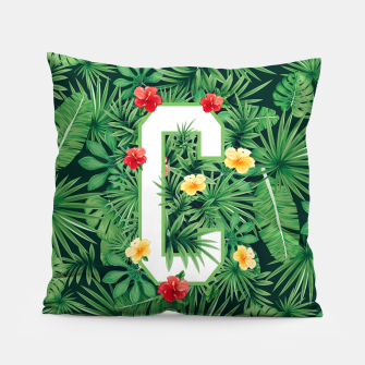 Capital Letter C Alphabet Monogram Initial Flower Gardener Pillow thumbnail image