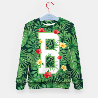 Capital Letter B Alphabet Monogram Initial Flower Gardener Kid's sweater thumbnail image