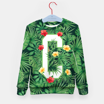 Capital Letter C Alphabet Monogram Initial Flower Gardener Kid's sweater thumbnail image