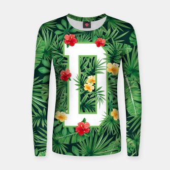 Capital Letter D Alphabet Monogram Initial Flower Gardener Women sweater thumbnail image