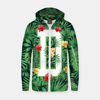 Capital Letter D Alphabet Monogram Initial Flower Gardener Zip up hoodie thumbnail image