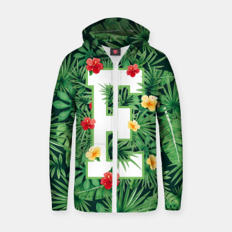 Capital Letter E Alphabet Monogram Initial Flower Gardener Zip up hoodie thumbnail image