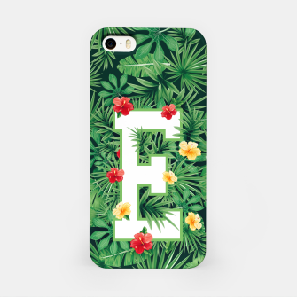 Capital Letter E Alphabet Monogram Initial Flower Gardener iPhone Case thumbnail image