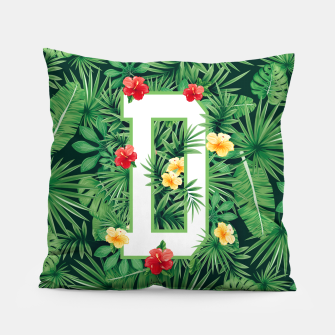 Capital Letter D Alphabet Monogram Initial Flower Gardener Pillow thumbnail image