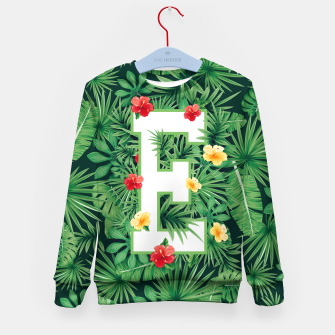 Capital Letter E Alphabet Monogram Initial Flower Gardener Kid's sweater thumbnail image