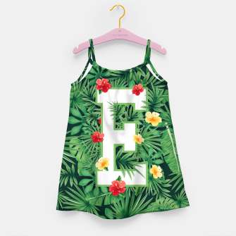 Capital Letter E Alphabet Monogram Initial Flower Gardener Girl's dress thumbnail image