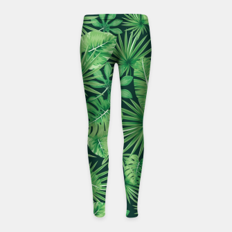 Capital Letter E Alphabet Monogram Initial Flower Gardener Girl's leggings thumbnail image