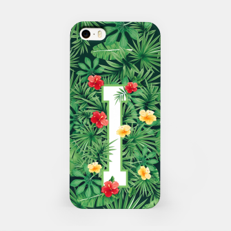 Capital Letter I Alphabet Monogram Initial Flower Gardener iPhone Case thumbnail image