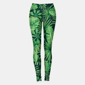 Capital Letter I Alphabet Monogram Initial Flower Gardener Leggings thumbnail image