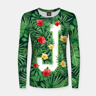 Capital Letter J Alphabet Monogram Initial Flower Gardener Women sweater thumbnail image