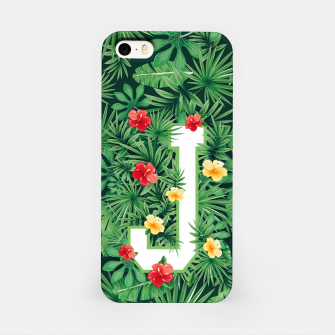 Capital Letter J Alphabet Monogram Initial Flower Gardener iPhone Case thumbnail image