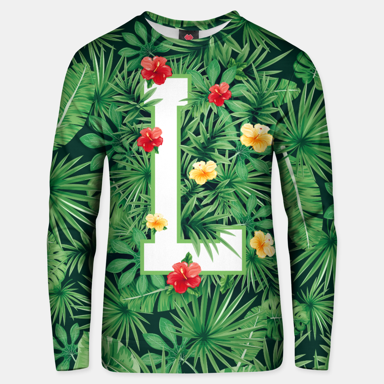 Image of Capital Letter L Alphabet Monogram Initial Flower Gardener Unisex sweater - Live Heroes